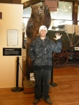 "Jamie with the infamous ""Snaggletooth Bear"""