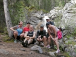 Our running group in front of the waterfall halfway up!