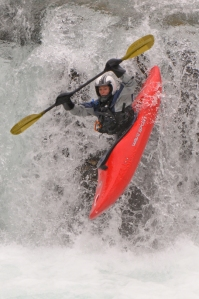 Courageous Kayaker! Click for more photos.