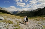 Hubby and I descending the Galatea hike