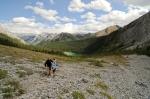 Paula and I descending Galatea