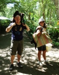 Jamie and Nerea start hauling monkeys to the jungle