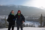 Jamie & I - Kananaskis in the background
