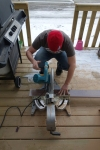 Jamie at the Mitre Saw