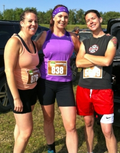 Paula, Jen, and Robin pose before Mud Hero. Unfortunately there are no 'after' photos.