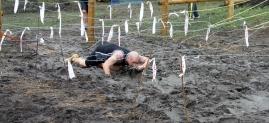 Jamie army crawls under barbed wire