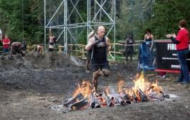 Jamie runs through fire - his is bigger than mine!